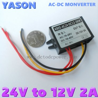 AC-DC or DC to DC 24V to 12V 3A Voltage Converter