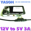 12v to 5V 3A converter cable for tachograph vehicle power cable