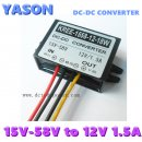 DC-DC power converter DC(15V-58V)to DC12V 1.5A 18W